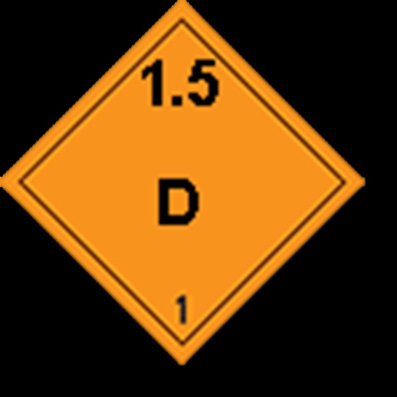 1.5 D Ontplofbare stoffen