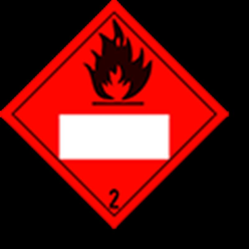 2.1 Brandbare gassen met wit UN-vlak