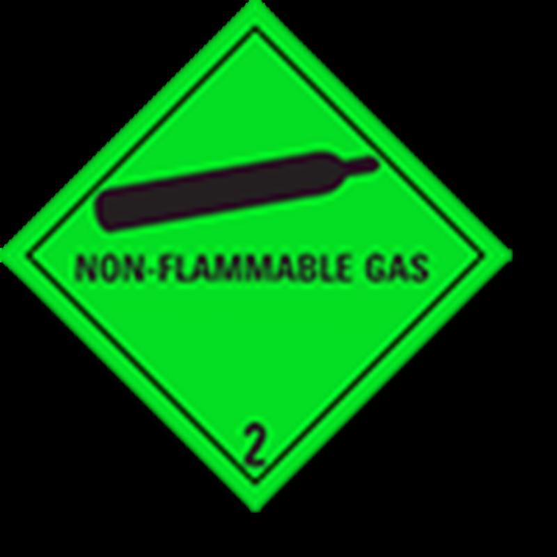 """2.2 Samengeperste gassen met tekst (""""Non-flammable Gas"""")"""