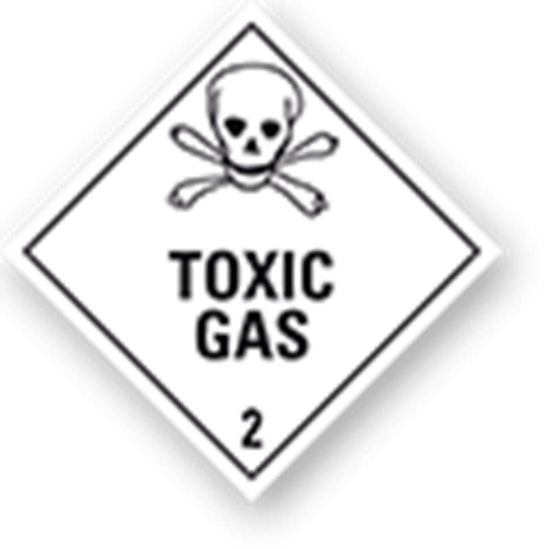 "2.3 Giftige gassen met tekst (""Toxic Gas"")"