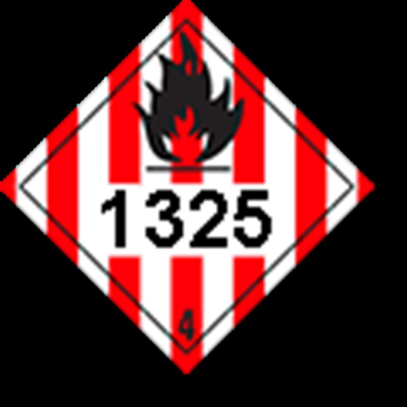 4.1 Brandbare vaste stoffen met UN-code ingedrukt