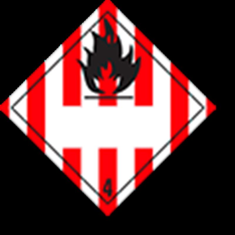 4.1 Brandbare vaste stoffen met wit UN-vlak