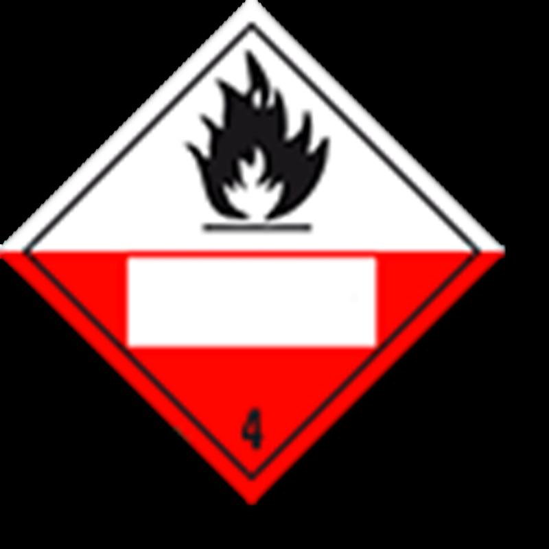 4.2 Voor zelfontbranding vatbare stoffen met UN-code ingedrukt