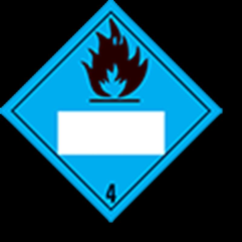 4.3 Stoffen die in contact met water brandbare gassen ontwikkelen met wit UN-vlak