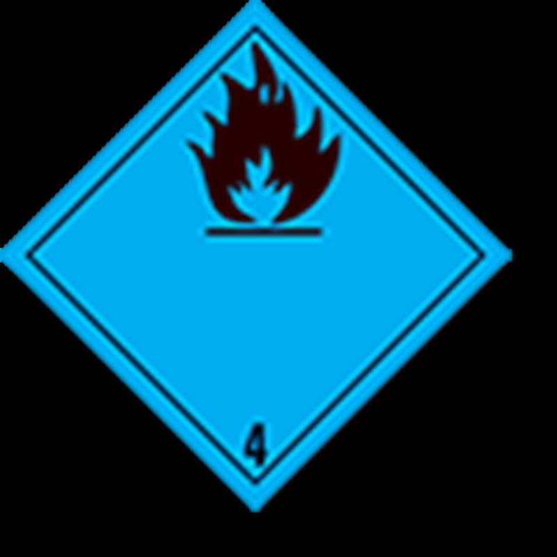 4.3 Stoffen die in contact met water brandbare gassen ontwikkelen zonder tekst