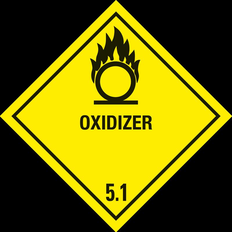 """5.1 Oxiderende stoffen met tekst (""""Oxidizer"""")"""