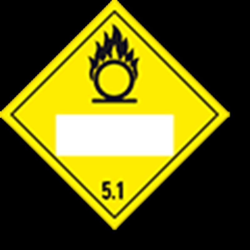 5.1 Oxiderende stoffen met wit UN-vlak