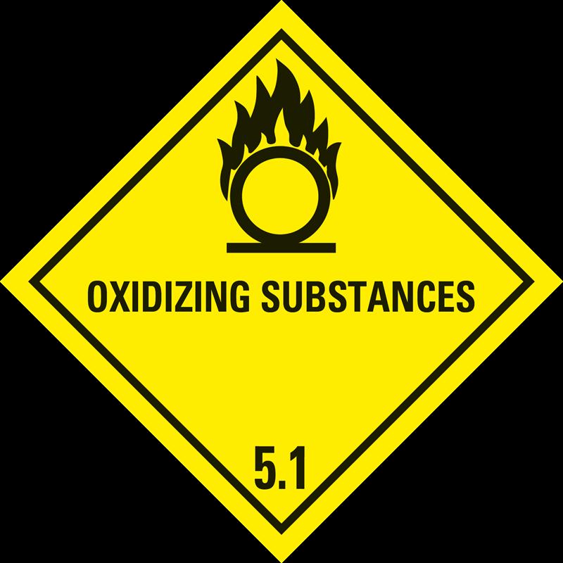 """5.1 Oxiderende stoffen met tekst (""""Oxidizing Substances"""")"""