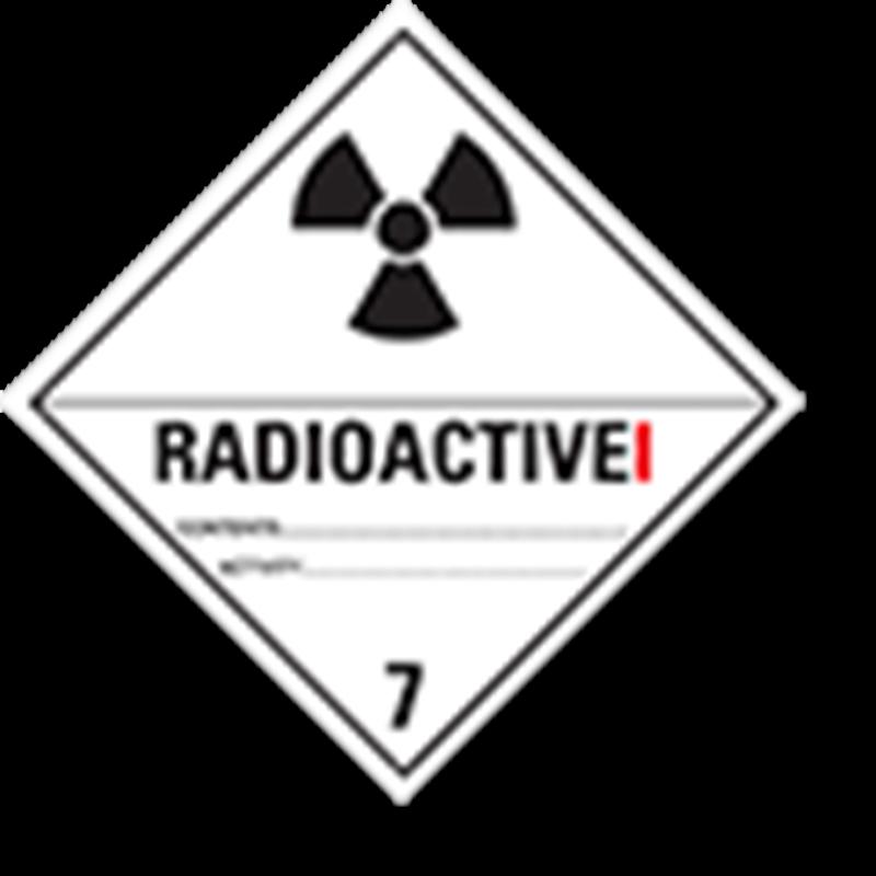 """7.1 Radioactieve stoffen met tekst (""""Radioactive I"""")"""