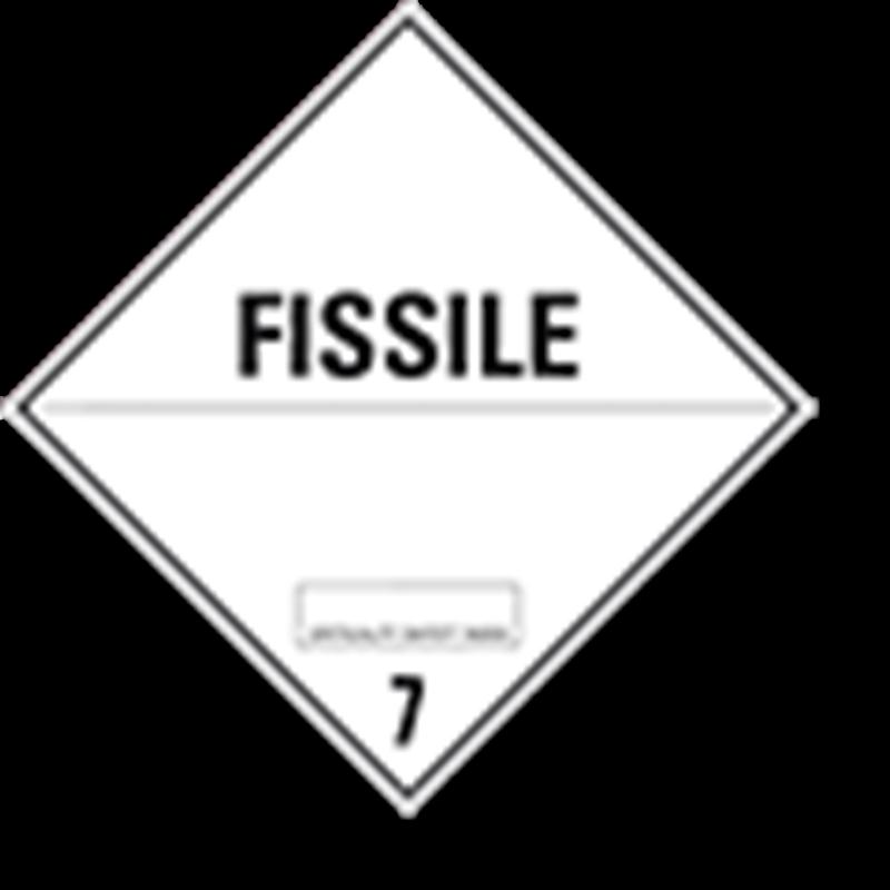 """7.4 Radioactieve stoffen met tekst (""""Fissile"""")"""
