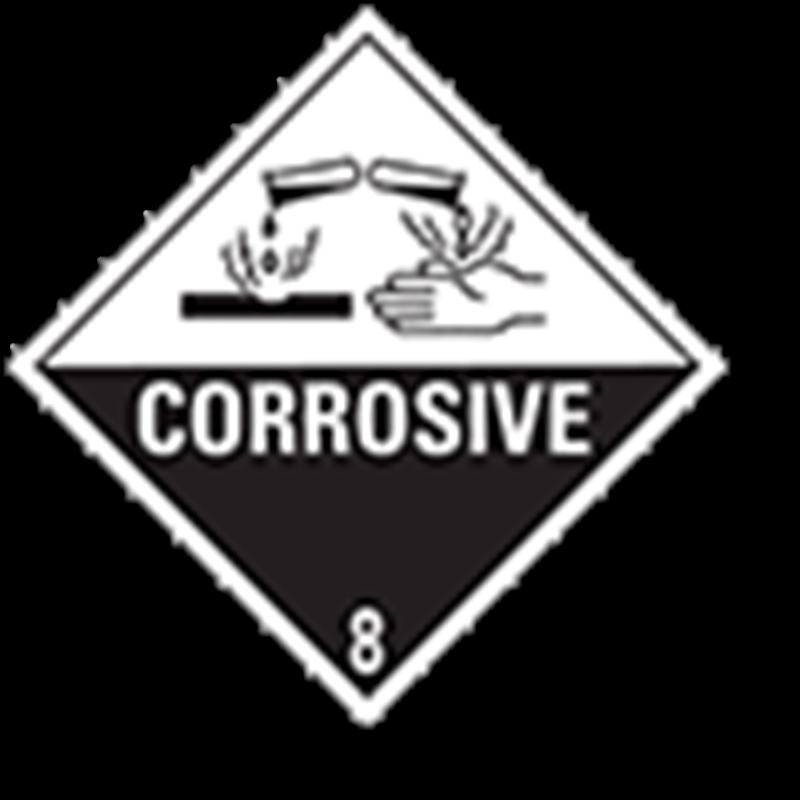 8.0 Bijtende stoffen met kaderlijn
