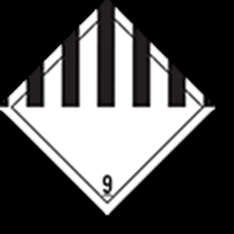 Aluminium Gevaarsbord, IMO 9.0 Miscellaneous