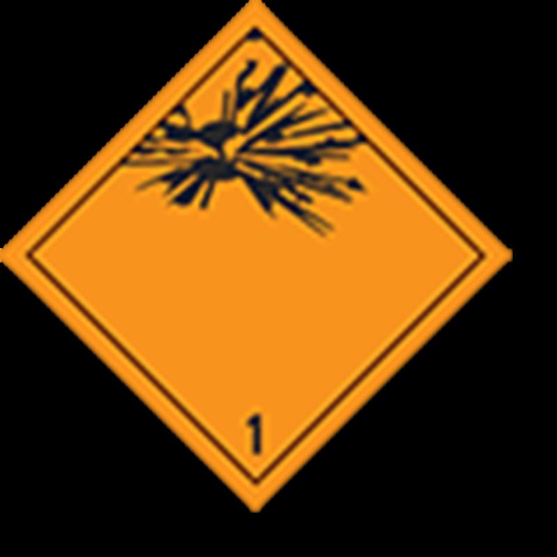 1 Explosive goods imprint
