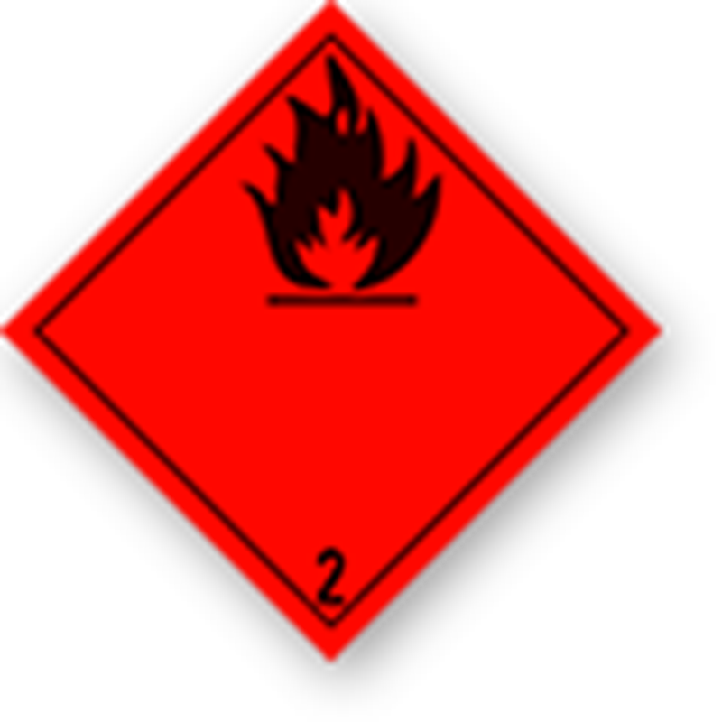2.1 Flammable gases without text