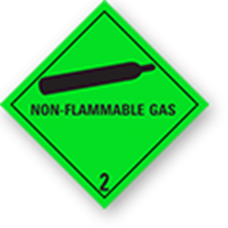 "2.2 Compressed gases with text (""Non-Flammable Gas"")"