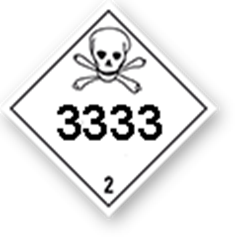 2.3 Toxic gases with UN-code imprint