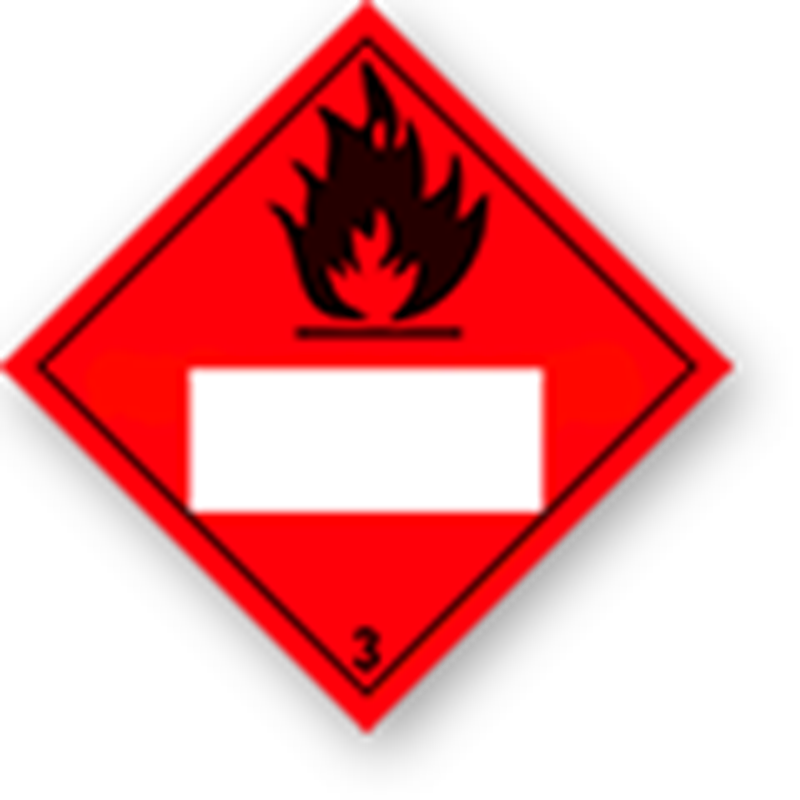 3.0 Flammable liquids with white UN field