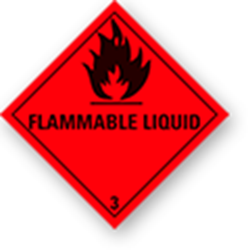 "3.0 Flammable liquids with text (""Flammable Liquid"")"