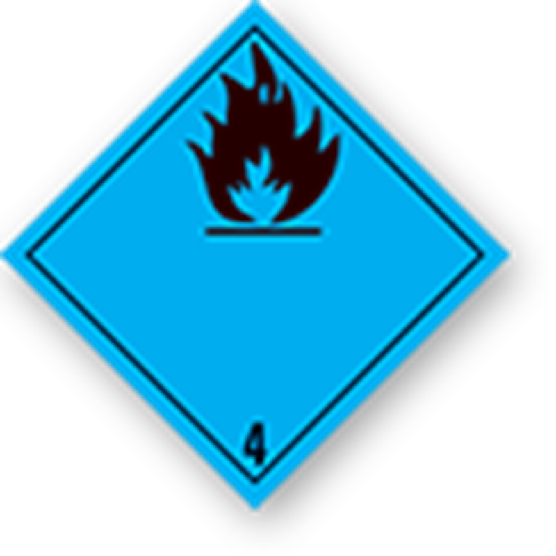 4.3 Substances that create flammable gases when in contact with water without text