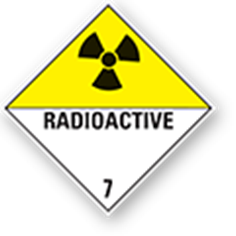 "7.0 Radioactive substances with text (""Radioactive"")"