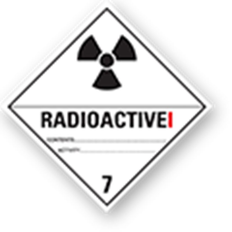 "7.1 Radioactive substances with text (""Radioactive I"")"