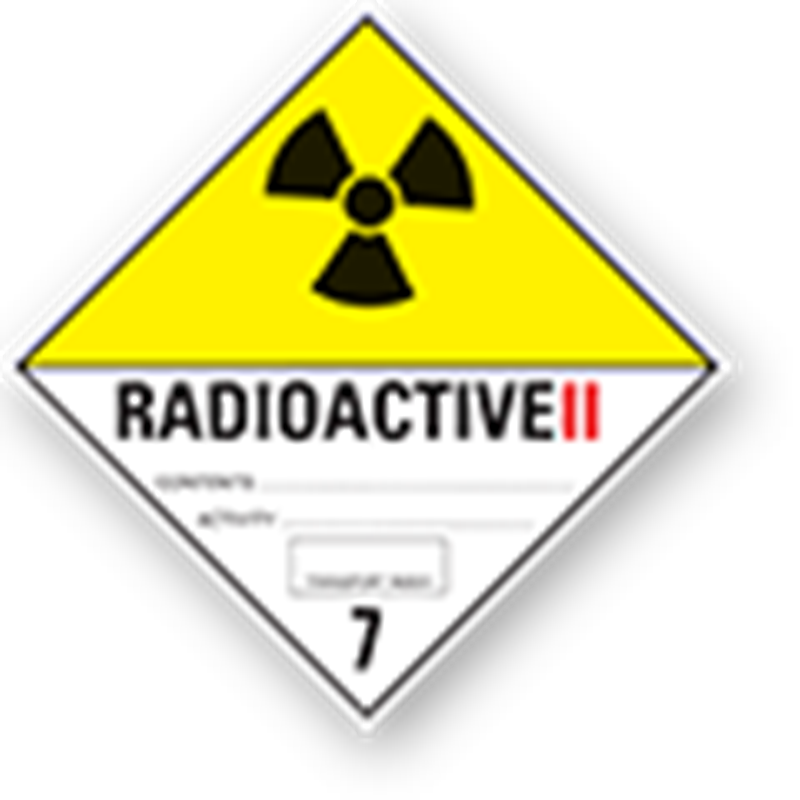 "7.2 Radioactive substances with text (""Radioactive II"")"