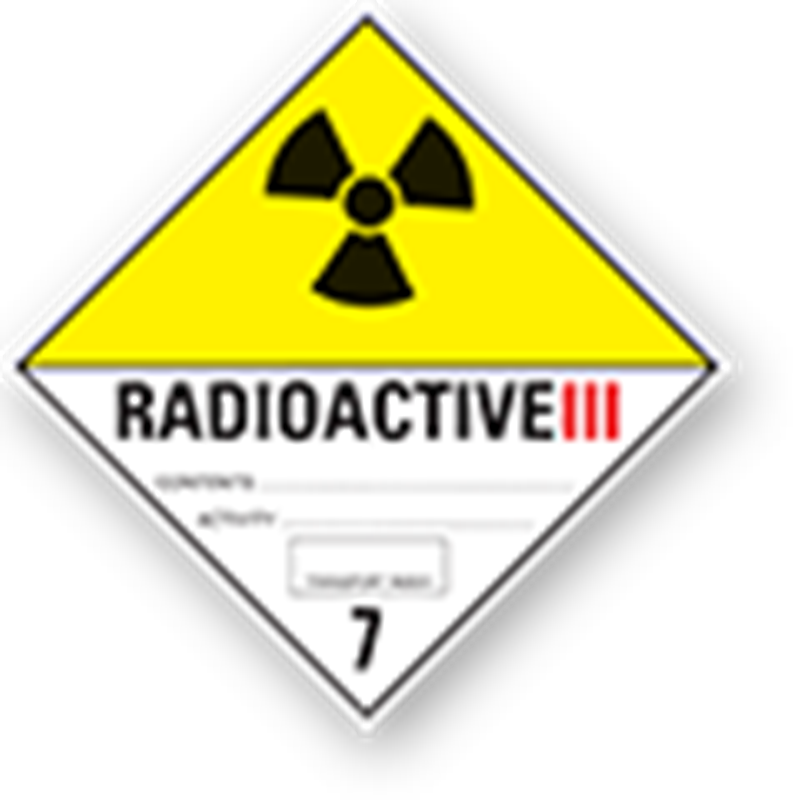 "7.3 Radioactive substances with text (""Radioactive III"")"