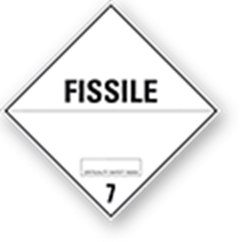 "7.4 Radioactive substances with text (""Fissile"")"