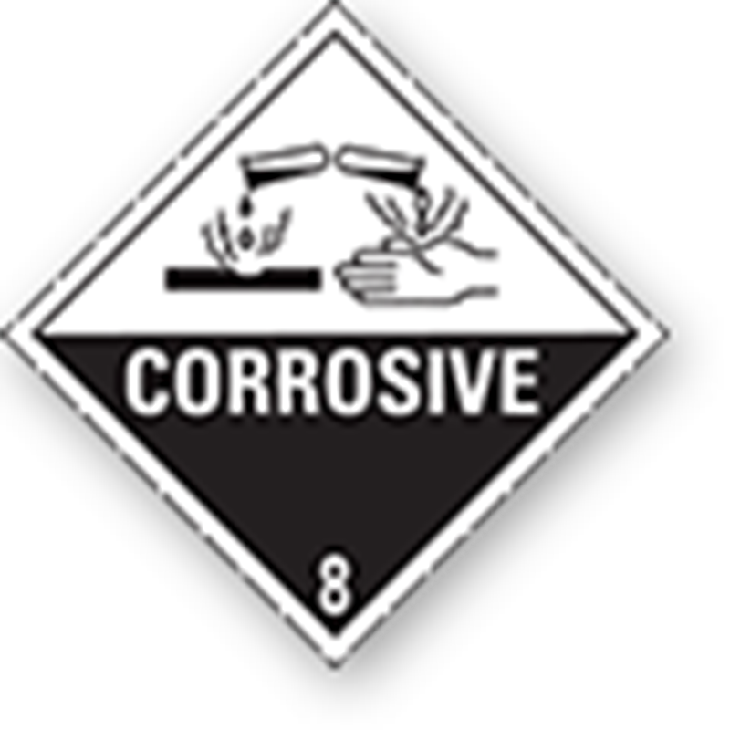 8.0 Corrosive substances with border