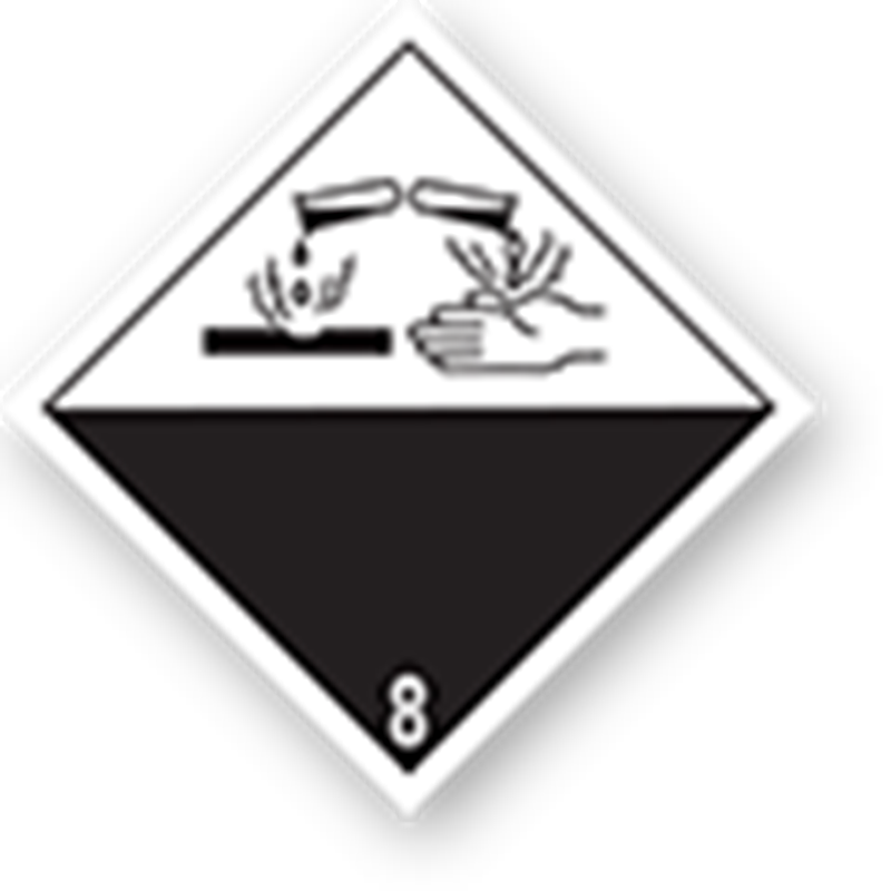 8.0 Corrosive substances without text