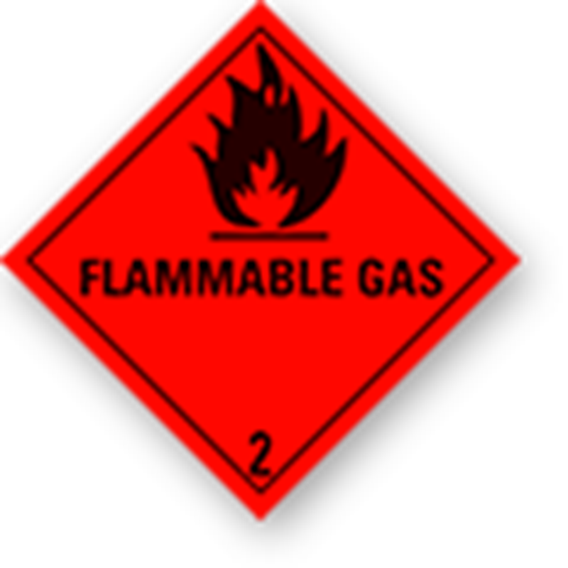 Aluminium Hazard Sign IMO 2.1 Flammable Gas