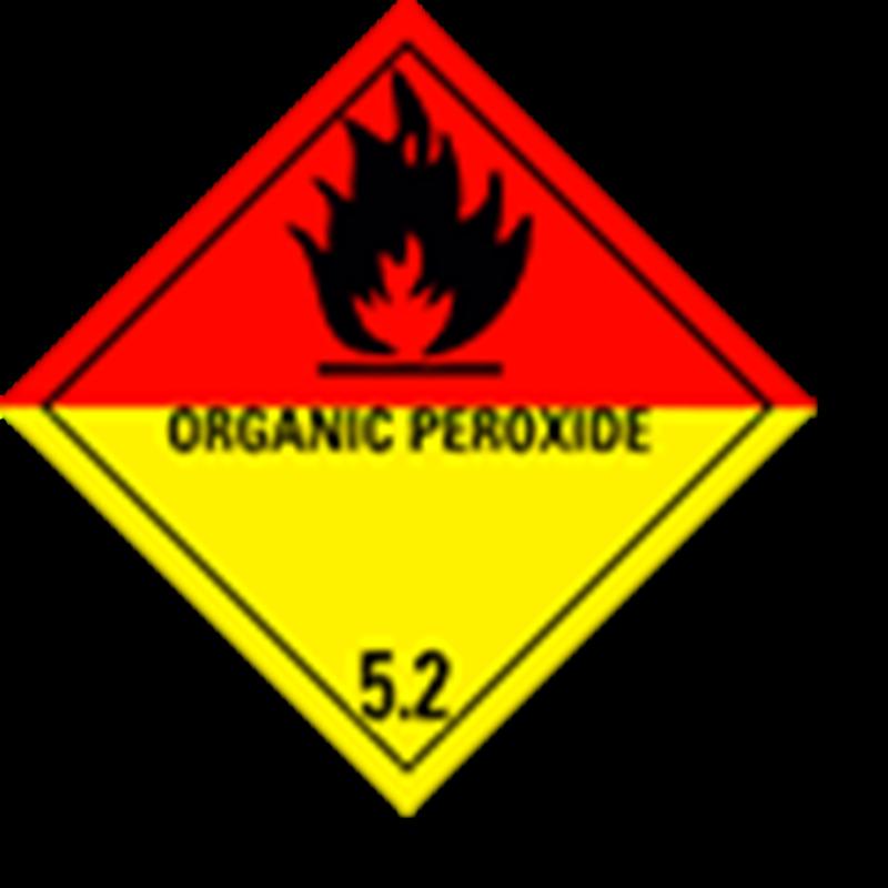 Aluminium Hazard Sign IMO 5.2 Organic peroxide