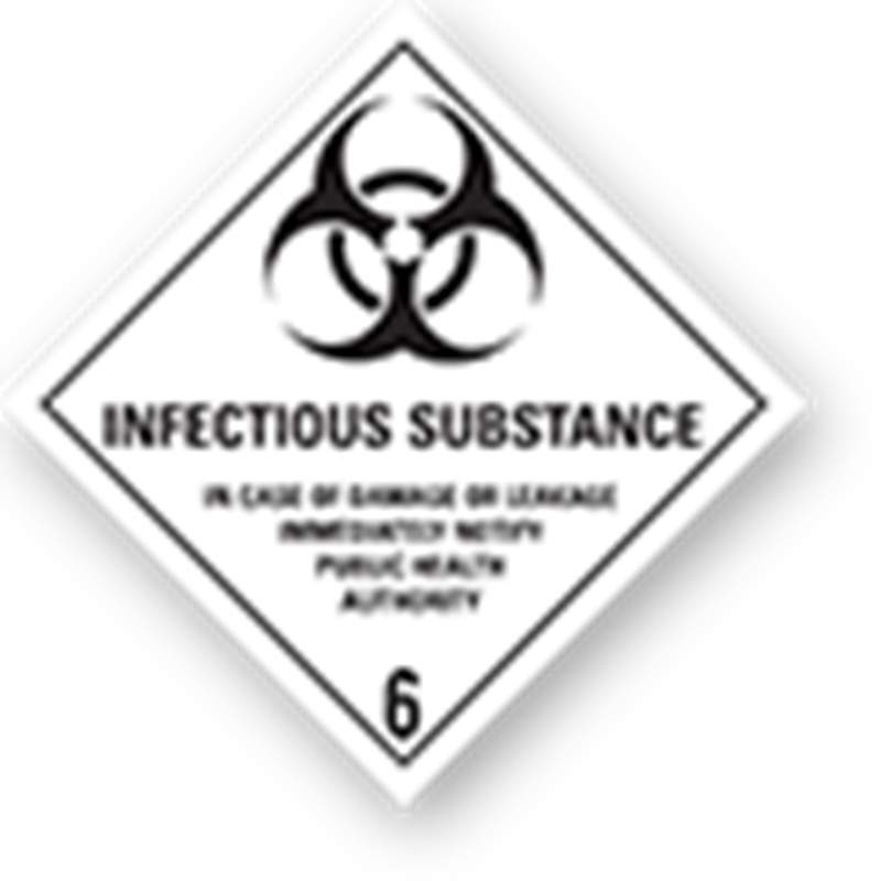 Aluminium Hazard Sign IMO 6.2 Infectious Substance