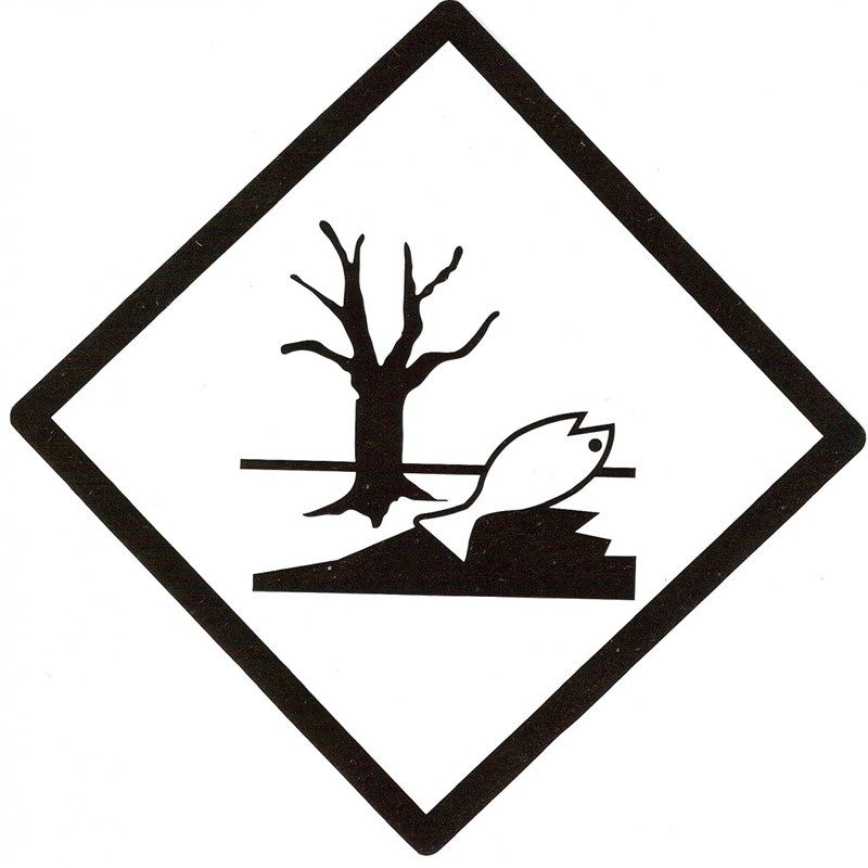 Aluminium Hazard Sign (Environmentally dangerous goods) Marine Pollutant