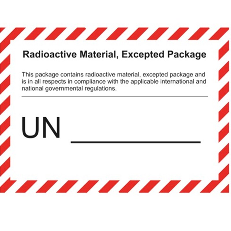 Radioactive Material, Excepted Package - imprint