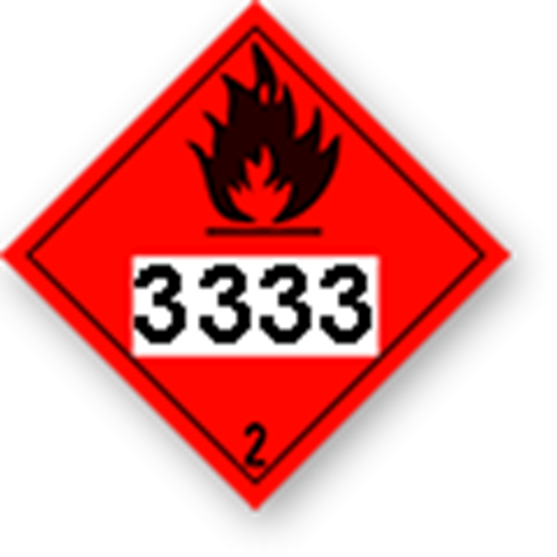 2.1 Flammable gases with UN-code imprint